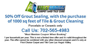 50% off Grout Sealing